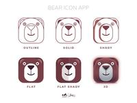 App Icon : Bear logo variation
