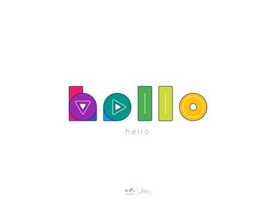 Typhography : Hello ui ux tuban web icon app branding logo vector typography