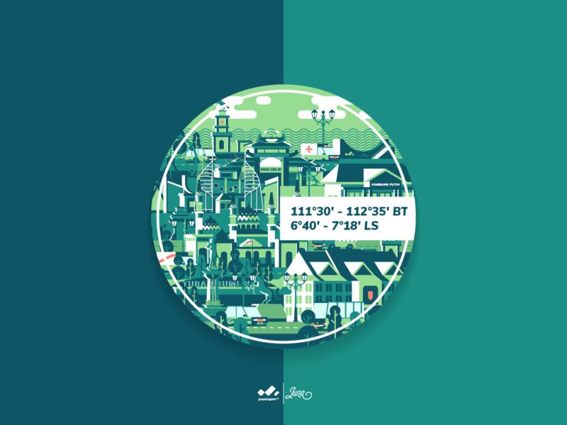 Sticker : Tuban The Mid-East of Java mule illustrator illustration design web branding tuban logo ux ui flat