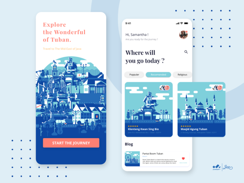 City Tour Of Tuban App By Juna Nobi On Dribbble