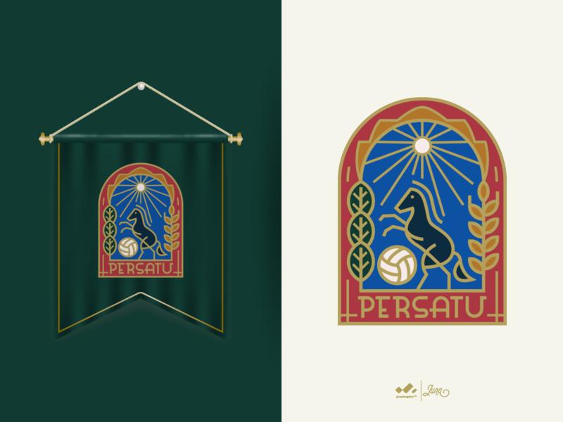 Design a Pennant for Persatu Tuban monoline green football club football weekly weekly warm-up pennant persatu tuban persatu typography icon vector branding logo tuban design