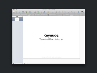 Keynude, the naked Keynote theme.