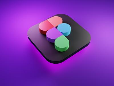 Figma icon 3d figma blender