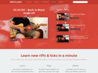 Rifflicks new homepage