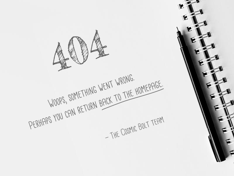 DailyUI 008 - 404 white black pencil sketch 404