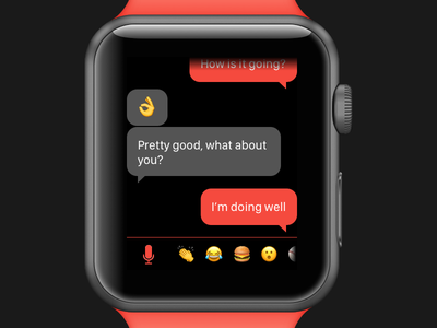DailyUI 013 - Direct Messaging emoji watch chat messaging dailyui