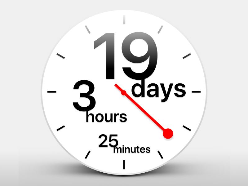 DailyUI 014 - Countdown Timer swiss timer clock countdown dailyui