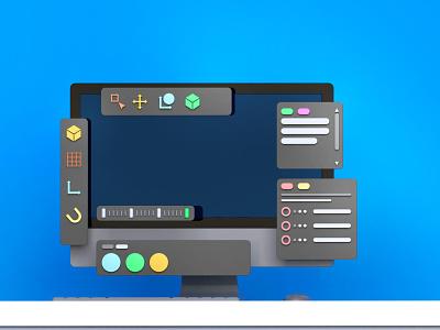Cinema 4D Interface ui cinema4d