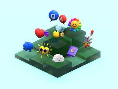 3D Mini Objects Design 3d objects cinema4d