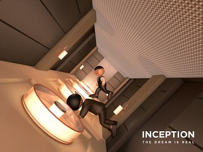 Inception - Hallway Fight Scene inception movie cinema4d