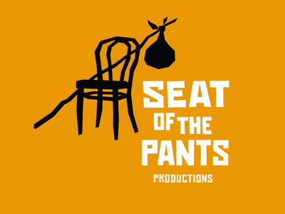 Seat of the Pants logo lockup theatre identity black  white black yellow vector logotype okthx branding typography type logo illustration