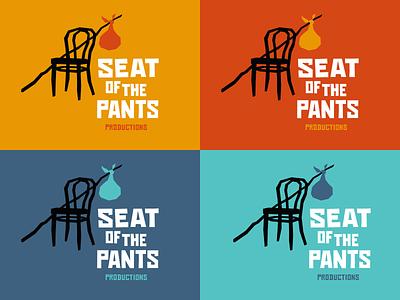 Seat of the Pants logo color variations vector okthx illustration typogaphy saul bass theatre identity branding logo