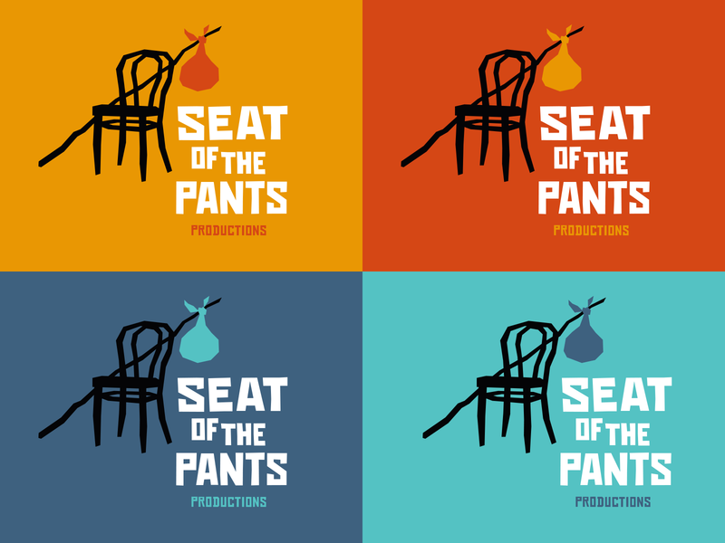 Seat of the Pants logo color variations vector okthx illustration typogaphy saul bass theatre identity branding logo