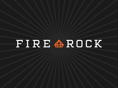 Fire Rock logos typography fire diamond badge okthx white orange charcoal black identity branding logotype logo cannabis