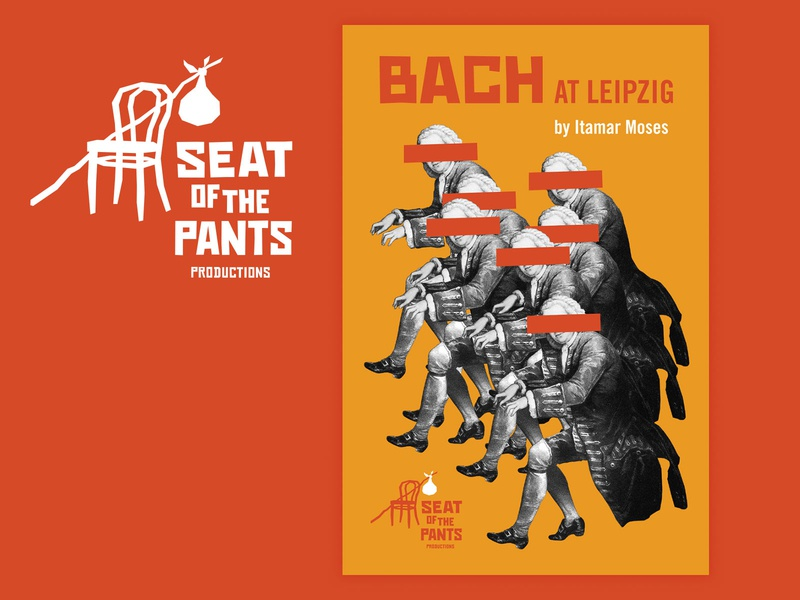 Seat of the Pants play posters vector illustration saul bass okthx blue green orange blackandwhite poster theater play custom type typography