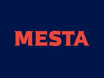 MESTA logo concept mesta red indigo branding identity lettering logotype logo okthx typography type