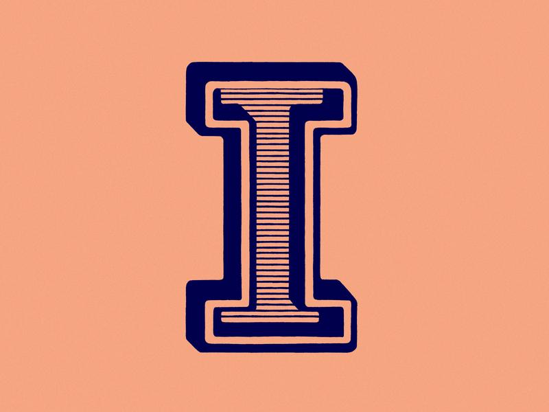 36 days of type - I i illustration typography design design 36 days of type typography lettering letter procreate digital illustration