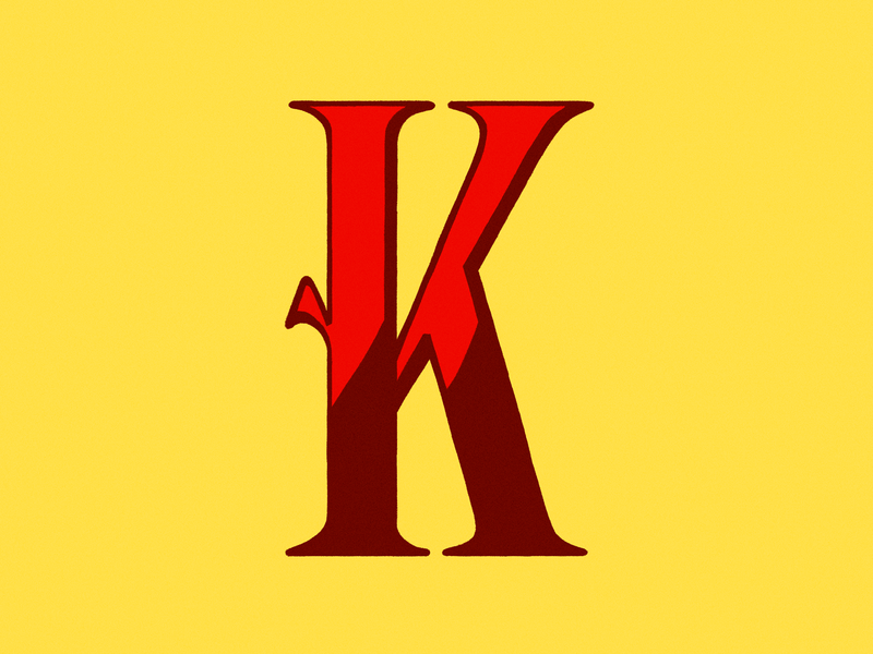36 days of type - K k illustration typography design design 36 days of type typography lettering letter procreate digital illustration