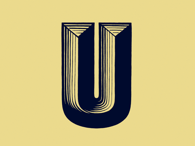 36 days of type - U u illustration typography design design 36 days of type typography lettering letter procreate digital illustration