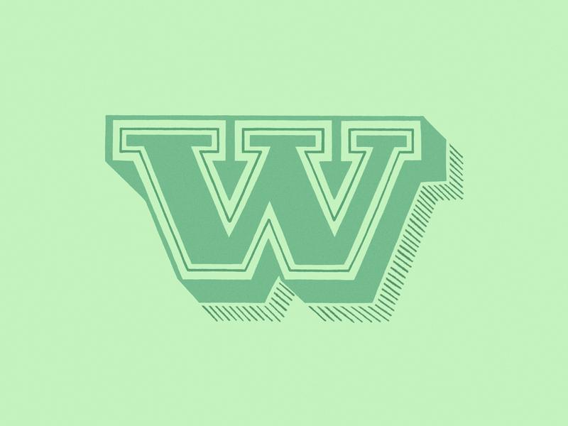 36 days of type - W w illustration typography design design 36 days of type typography lettering letter procreate digital illustration