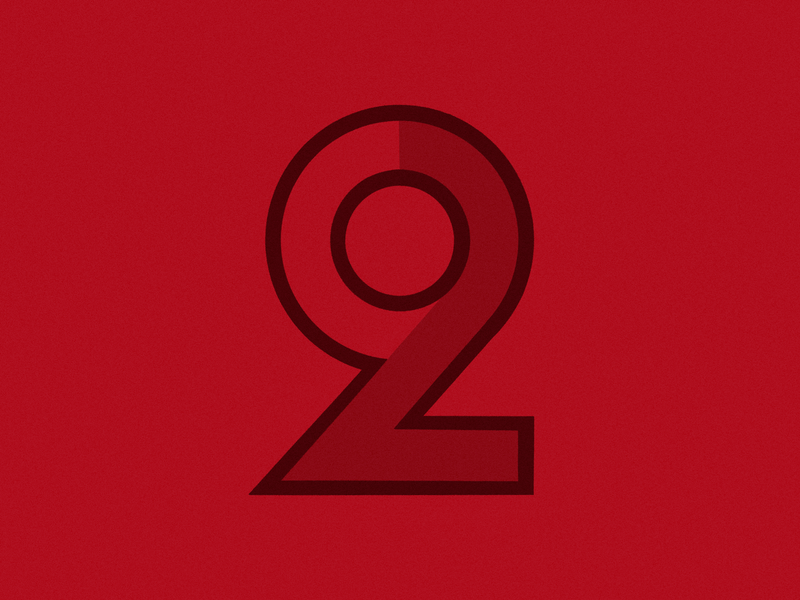 36 days of type - 2 2 numerals number numbers illustration typography design design 36 days of type typography lettering letter procreate digital illustration
