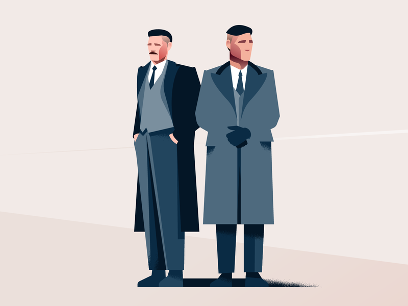 By order of the Peaky Blinders! vector illustration ipadpro thomas shelby peaky blinders movie poster minimal clean design flat illustration character design characterdesign bright color combinations art adobe illustrator