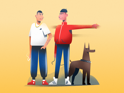 Fellas exploration affinity doberman dog vector illustration minimal clean design flat illustration character design characterdesign bright color combinations art adobe illustrator