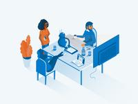 A.I. Virtual assistant Illustration
