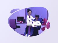 Medical start up illustration