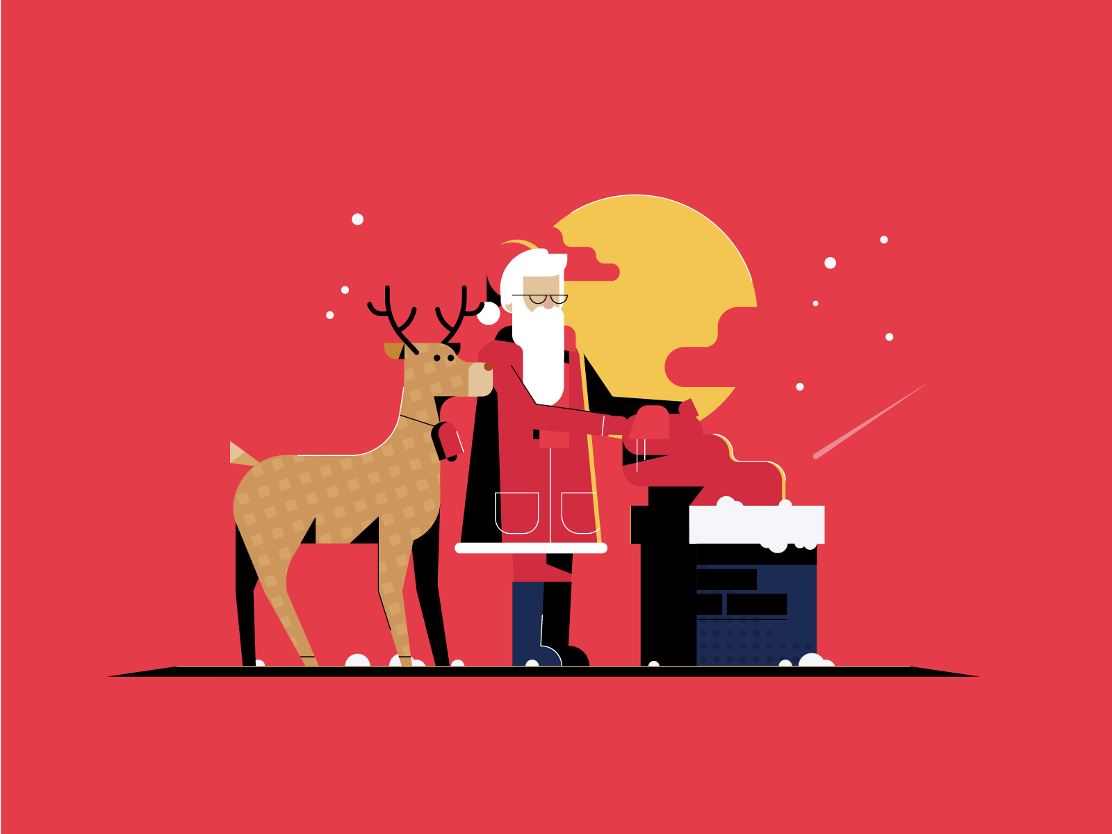 Christmas Illustrations.Festive Christmas Illustrations By Gytis Jonaitis For Flair