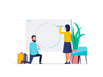 Teamwork & Startup Animations after effects animation character animation coworkers job startup startup life flat illustration teamwork ui ux animation 2d looped animation svg vector lotte animation