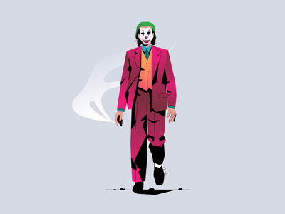 Joker characterdesign adobe illustrator minimal clean design flat illustration bright color combinations art vector illustration character design joker