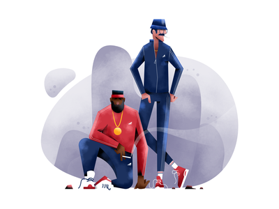 Lads in track suits user interface ui mobile tablet illustrations minimal clean design lifestyle characterdesign bright color combinations flat illustration character exploring character design art texture bright affinity designer adobe illustrator vector illustration