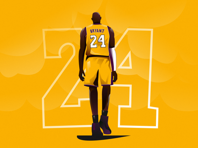KOBE legend los angeles lakers basketball nba black mamba kobe bryant vector illustration vectorart minimal clean design flat illustration design exploration character design characterdesign adobe illustrator illustration