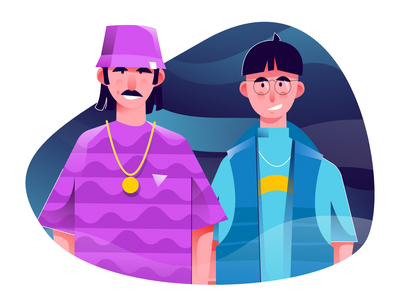 character design illustration vector illustration user interface ui mobile tablet illustrations minimal clean design lifestyle flat illustration character exploring character design characterdesign bright color combinations art texture bright adobe illustrator