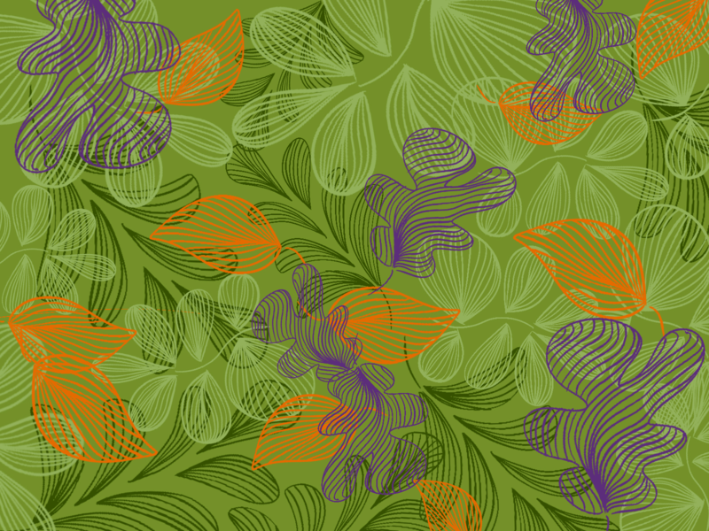 Leaf Pattern fall colors fall procreate ipad leaves green pattern weather illustration