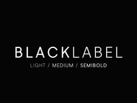 Black Label - Minimal Sans Serif