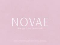Novae - Unique Sans Serif Font