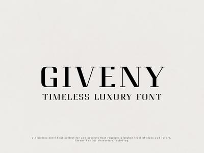 Giveny - Timeless Luxury Font