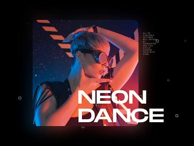 Neon Dance productdesign dark mode minimal colorful color future fantasy videohive scifiui scifi glitch effect motion dark retro grunge texture grunge cyberpunk typography glitch neon