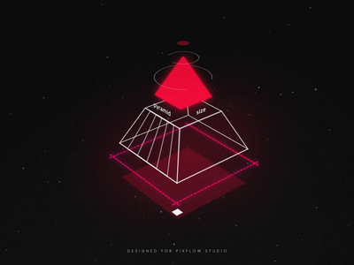 HUD Pyramid after effects ae motion digital future motion graphic fui abstract high tech motion design animation illustraion cyberpunk sci-fi hud 3d particles particle pyramid