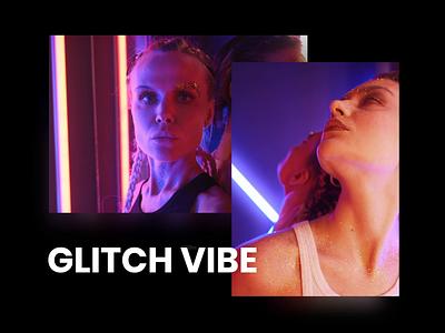 Glitch Vibe 2d animation 2d glitch art glitch effect vhs text glitch motion design glow motion graphics