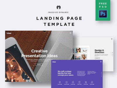 Landing Page Freebie PSD