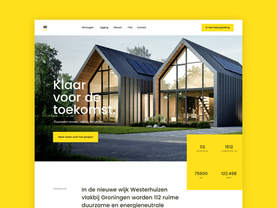 Real Estate Webdesign Concept typography ui responsive minimal wordpress realestate real estate xd webdesign layout grid design clean