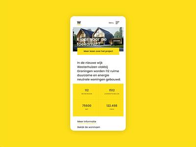 Real Estate Webdesign Concept Animation prototype animation xd webdesign minimal layout grid design clean ui typography