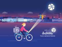 A bike in the night ...