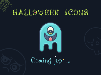 Cute Halloween Icons Set