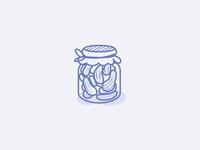 Vege Food Icons : pickles gherkin