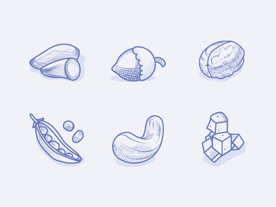 Veggie Food Icons 2 icons vegan vegetarian veggies leguminous greens engraving etching illustration shellfruit milk pickles