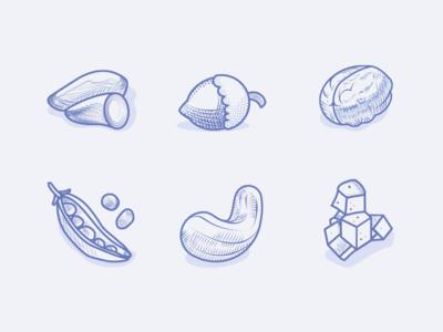 Veggie Food Icons 2